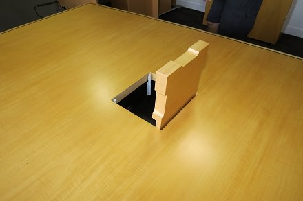 Sensational Adding Cable Access Flaps To An Existing Boardroom Table Home Interior And Landscaping Ponolsignezvosmurscom