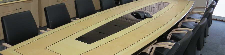 Boardroom Table With Cable Covers