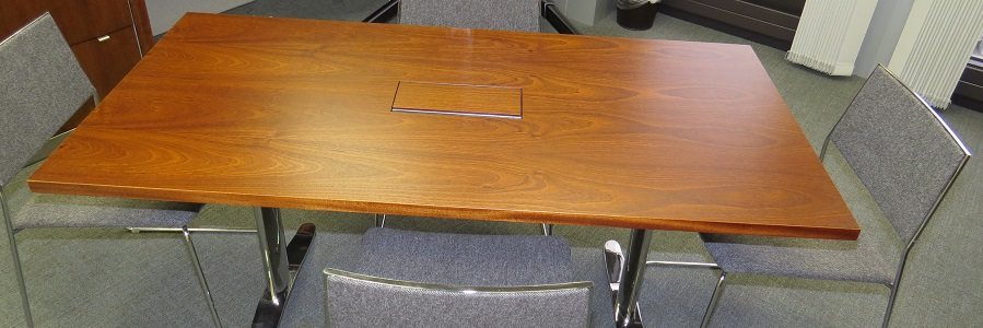 Dark Veneered Folding Meeting Table