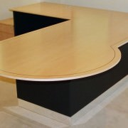 executive desks with conference extension