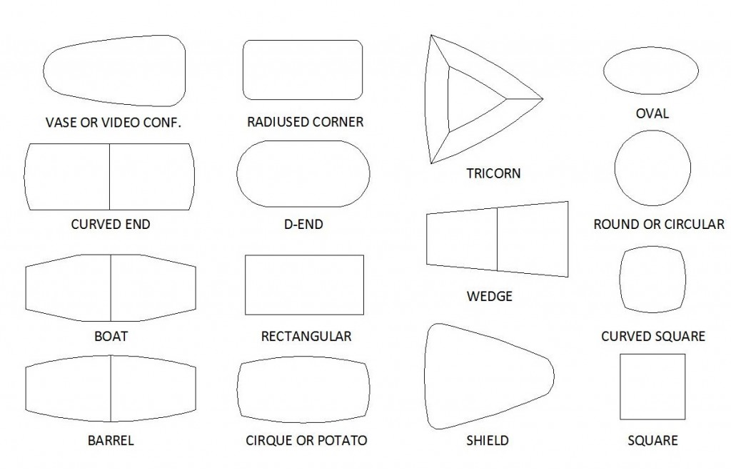 boardroom table shapes