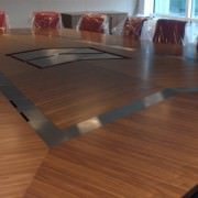 Boardroom Tables with metal inlay