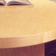 modern boardroom table wood edge