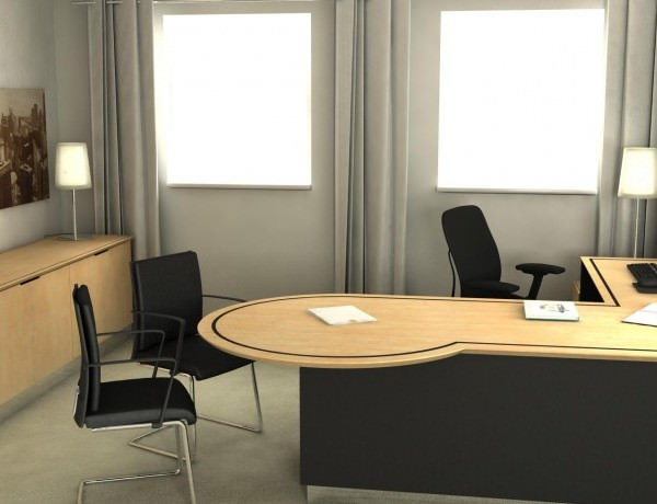 Executive Desks With Meeting Tables Fusion Executive Office Furniture - Desk with meeting table