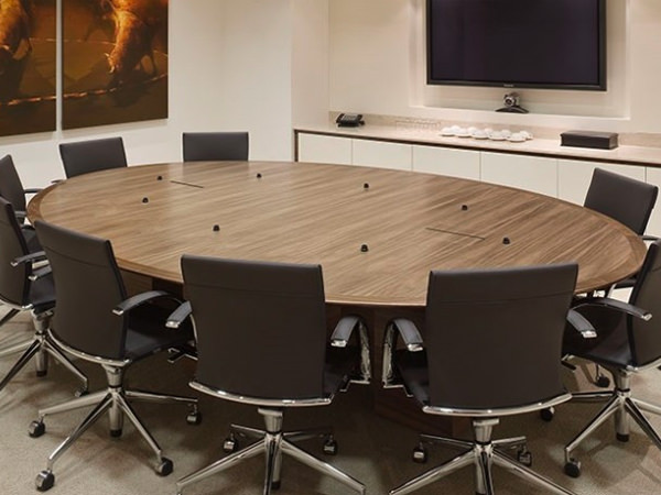 Round Boardroom Tables Fusion Executive Office Furniture - Granite conference table for sale