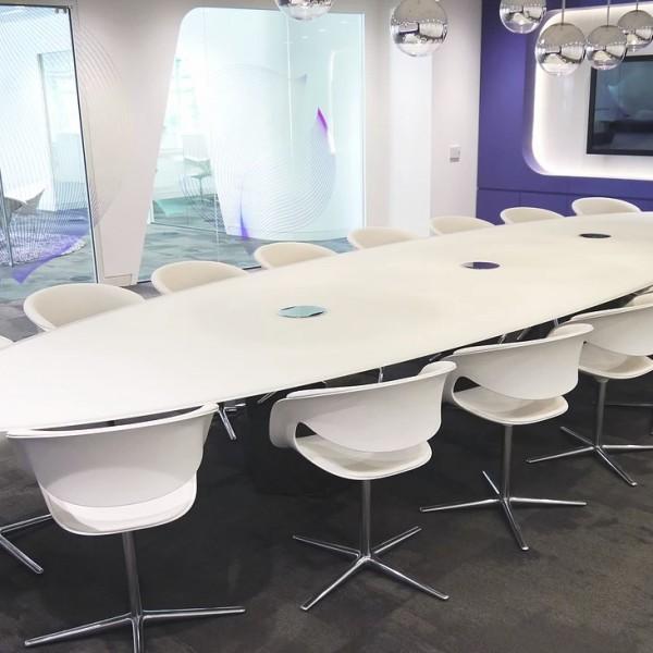 Bespoke White Boardroom Furniture