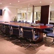 boardroom tables in rosewood stain