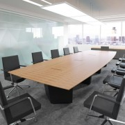 boardroom tables black base