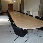 folding boardroom table on wheels