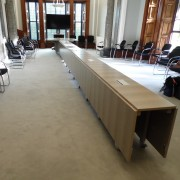 folding conference table with wheels