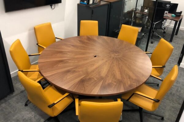 Round Boardroom Tables Fusion, Round Meeting Room Tables