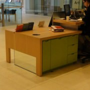 large reception desk storage