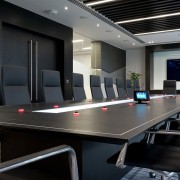 modern black boardroom table