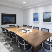 modern boardroom tables walnut