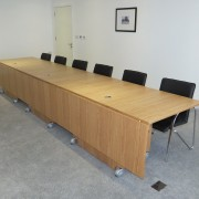 oak folding conference committee table
