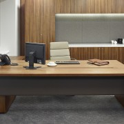 office desk with modesty panel