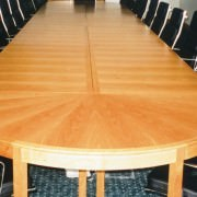 sectional modular boardroom tables in wood
