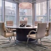 round boardroom tables chrome plinth