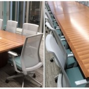 solid profiled edge on folding conference table