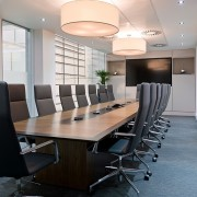 veneer boardroom table with contrast inlay