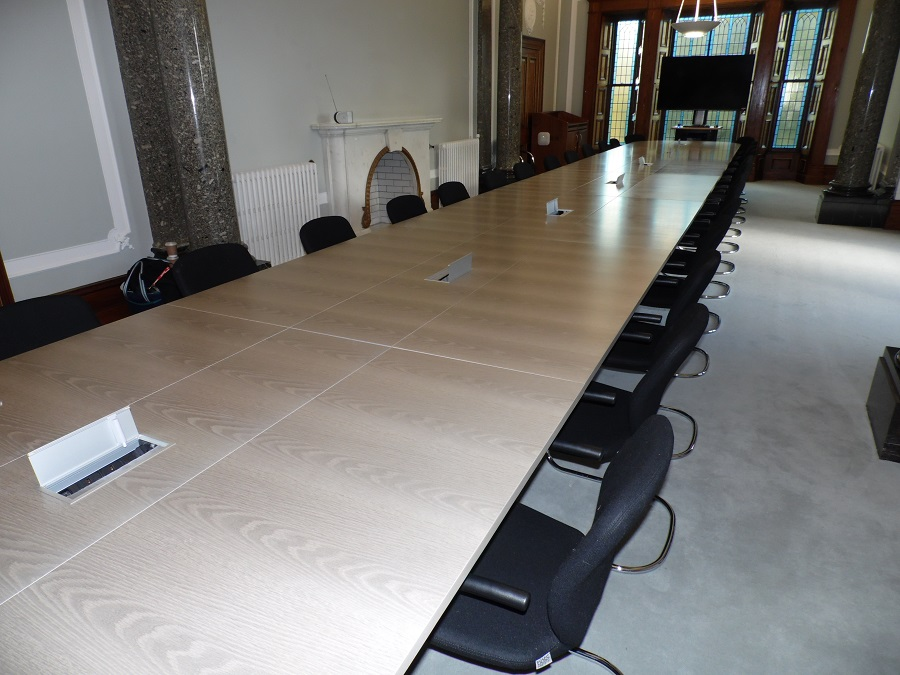 Folding Veneered Conference Table Fusion Executive Furniture - Folding boardroom table