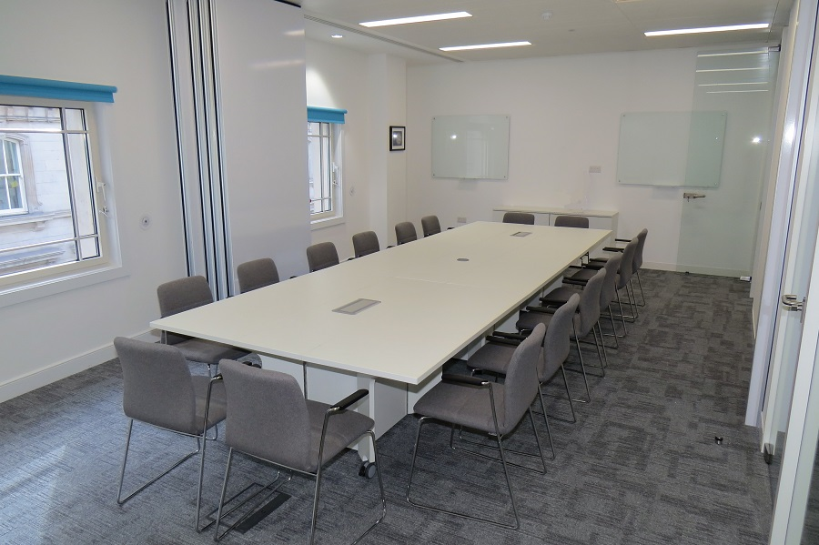 tables on wheels office. White Conference Tables With Power Sockets On Wheels Office